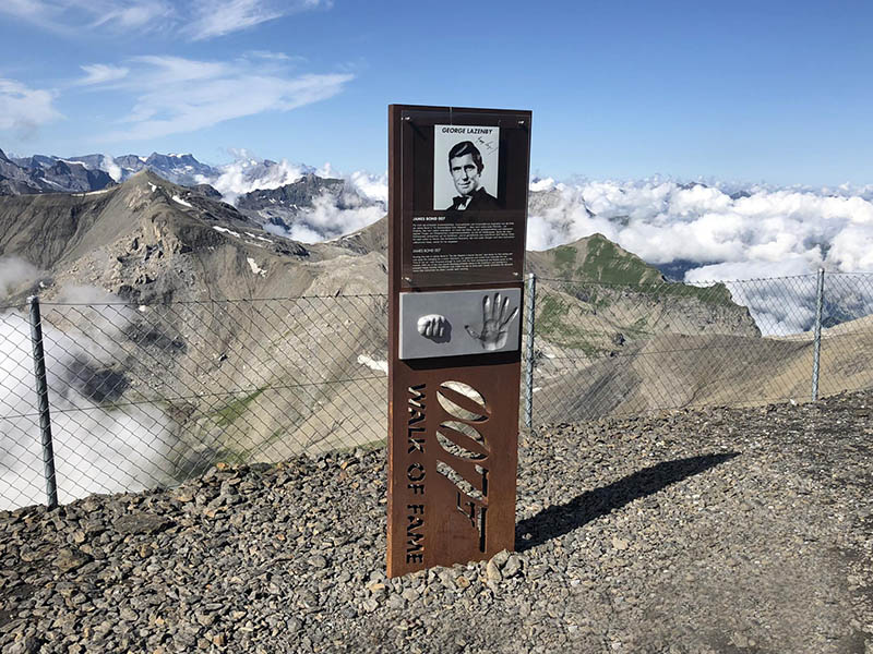 James Bond walk of fame Piz Gloria Schilthorn Schweiz
